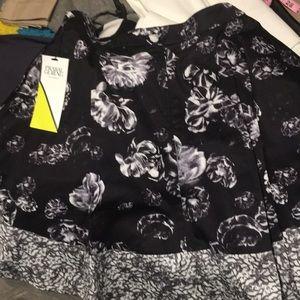 Festive black and white skirt